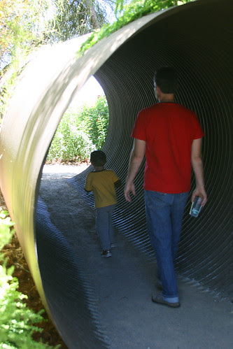 corrugated tunnel