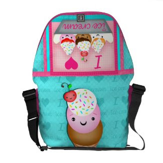Kawaii Ice Cream Love Rickshaw Bag rickshawmessengerbag