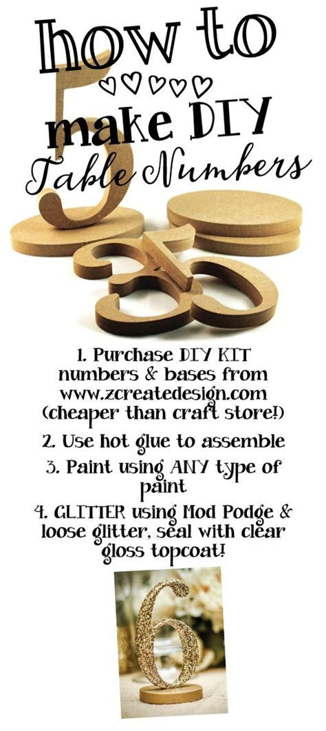 1 15 Wooden Table Numbers   Do It Yourself Wedding Table