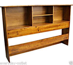 Solid Wood Bookcase Headboard Scandinavia Bedroom ...