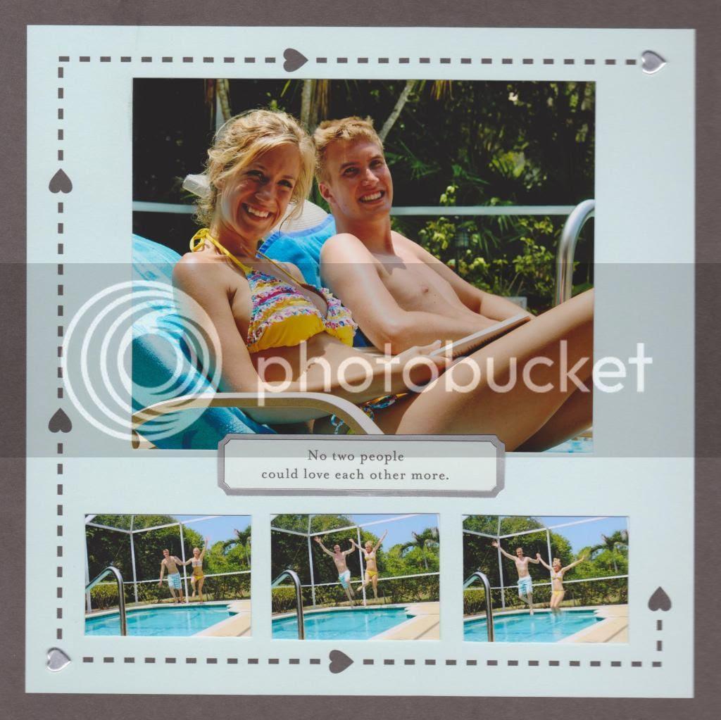 our honeymoon scrapbook {Breezy Pink Daisies}