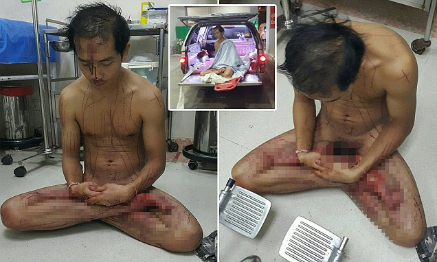 Image result for A Thai man sliced off his own penis with a knife while watching porn and had to be rushed to the hospital as a result.