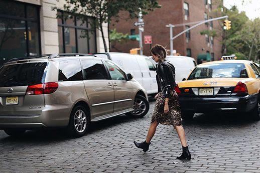 Le Fashion Blog Aviators Black Leather Jacket Leopard Dress Black Boots Via We Wore What