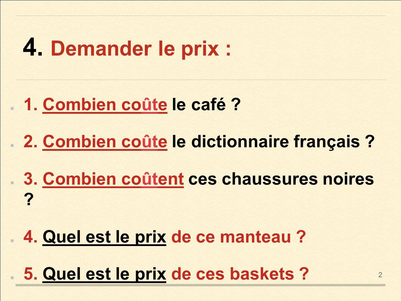Z życia wzięte #1 - Pytanie o cenę - słownictwo 5 - Francuski przy kawie
