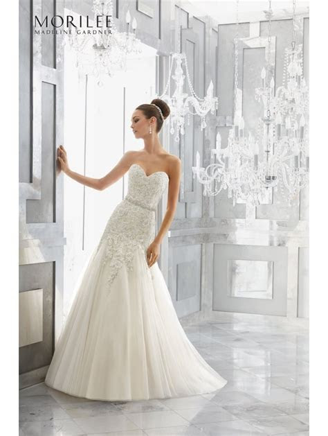 Mori Lee 5566 MAURA Strapless Fit And Flare Wedding Dress