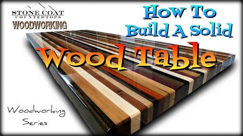 build  solid wood table top youtube