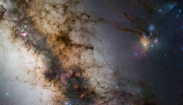 La Via Lattea è diventata quasi 'invisibile' da gran parte dell'Italia a causa dell'inquinamento luminoso (fonte: ESO/S. Guisard)