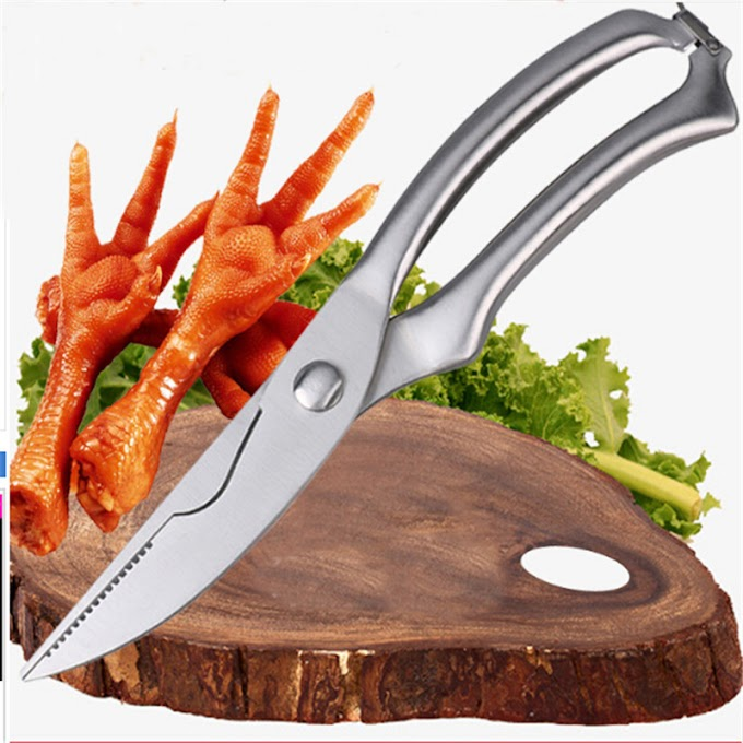Promo  2018 Strong Knives Kitchen Shears Stainless Steel Poultry Fish Chicken Bone Scissors Kitchen Gadget