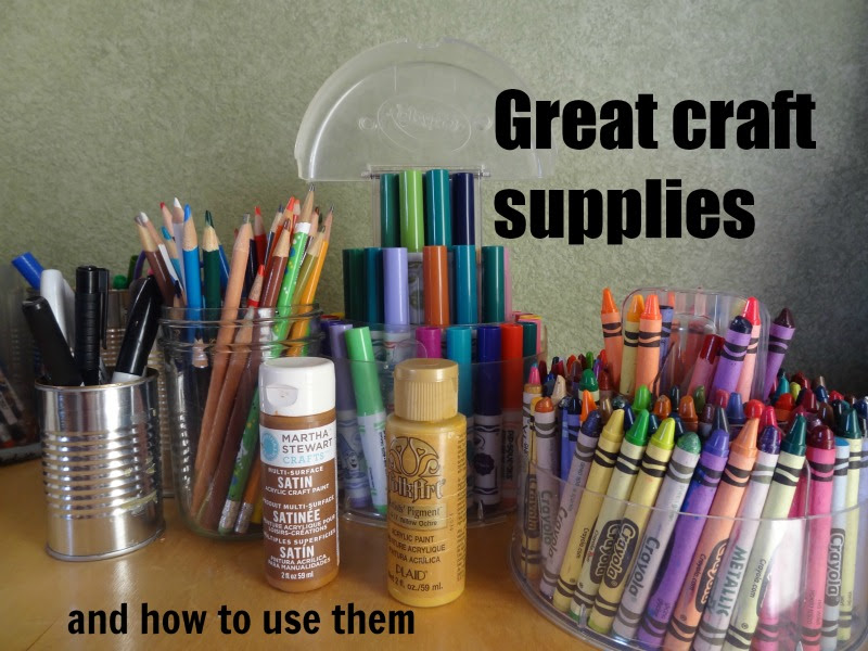 Great craft supplies and when to use them