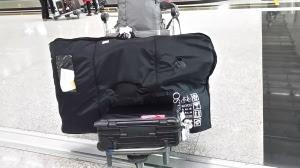 自転車と共に香港着
