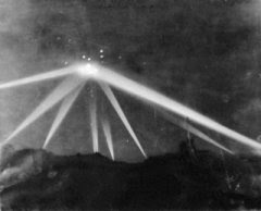 Photograph of UFO over Los Angeles, California, 1942