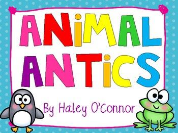 Animal Antics! Literacy and Math Stations