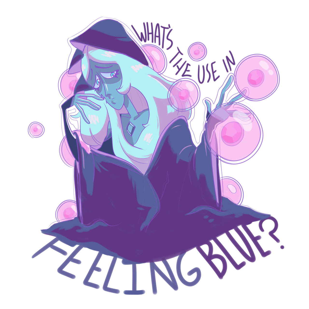 I love Blue Diamond so much…. I really feel for her,as I too am a Sad Girl ™ ;; w ;; Want this on a sticker?? (or something else?) Get it at my redbubble shop!