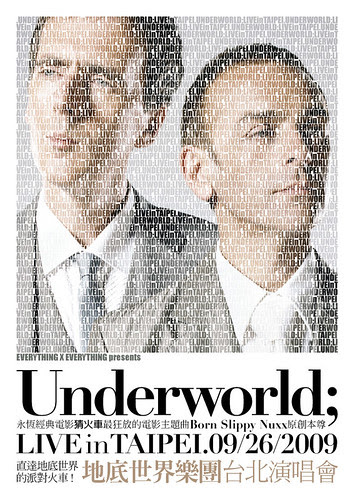 Underworld Taipei Live Flyer