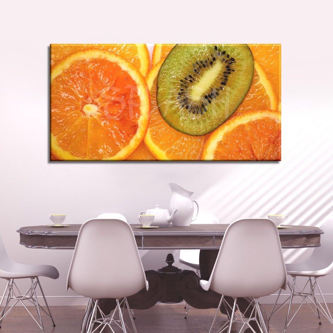 Cuadros Para Cocinas Y Comedores Bodegones Frutas Naranjas Kiwi