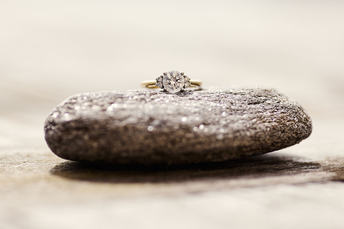 Engagement Ring Photo from Thorpeness wedding - helloromancephotography.com