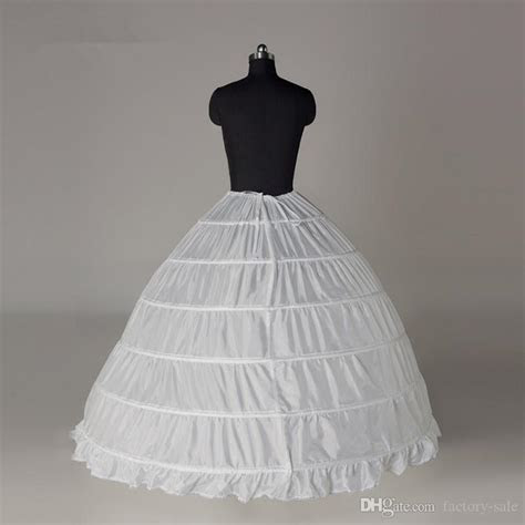 Super Cheap Ball Gown 6 Hoops Petticoat Wedding Slip