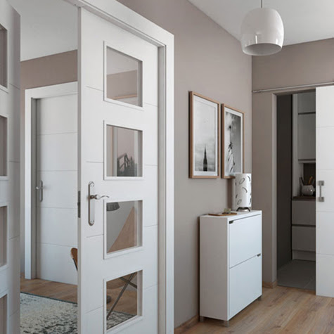 Material aislante termico puertas de madera y cristal - Puertas de cristal para interiores ...