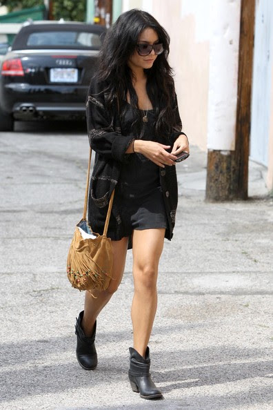 Actress Vanessa Hudgens spotted out and about in Toluca Lake, CA.