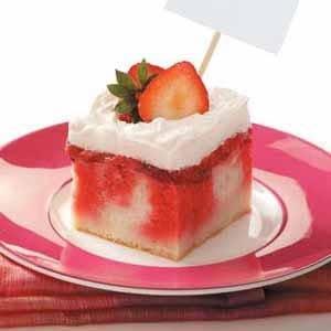 Strawberry Shortcake made with cake mix