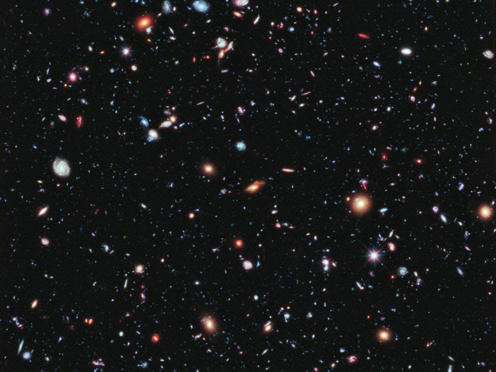 PHOTO: Called the eXtreme Deep Field, or XDF, this image from NASAs Hubble Space Telescope contains about 5,500 galaxies.
