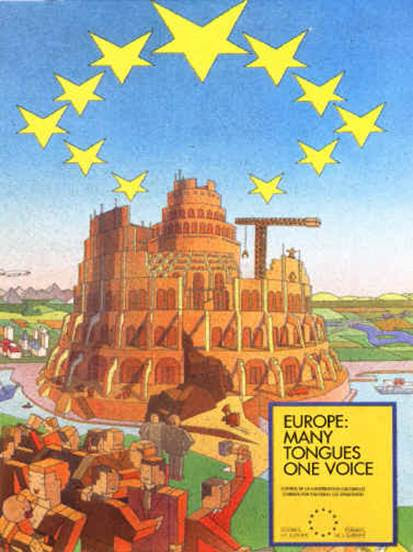 12 Pictures That Demonstrate How The New World Order Openly Mocks Us EU Poster Tower Of Babel