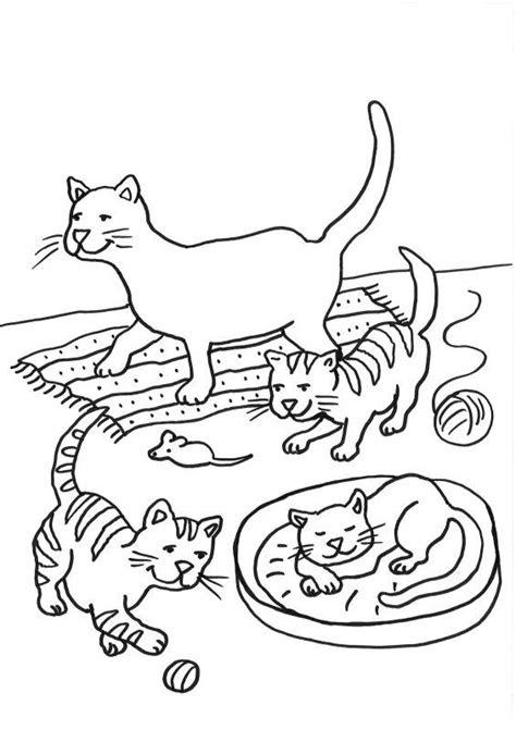 ausmalbilder tiere katze  kostenlose malvorlagen ideen