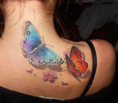 Amaizing 3d Butterfly Tattoo On Shoulder Tattoomagz