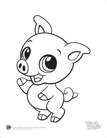 leapfrog printable baby animal coloring pages pig