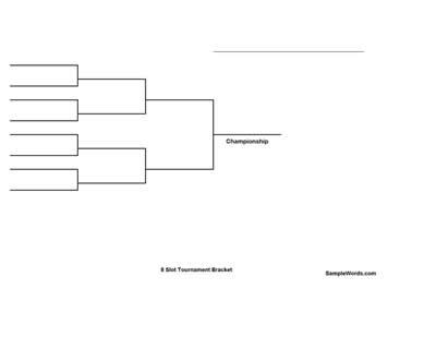 Free Printable 8 Team Single Elimination Tournament Bracket