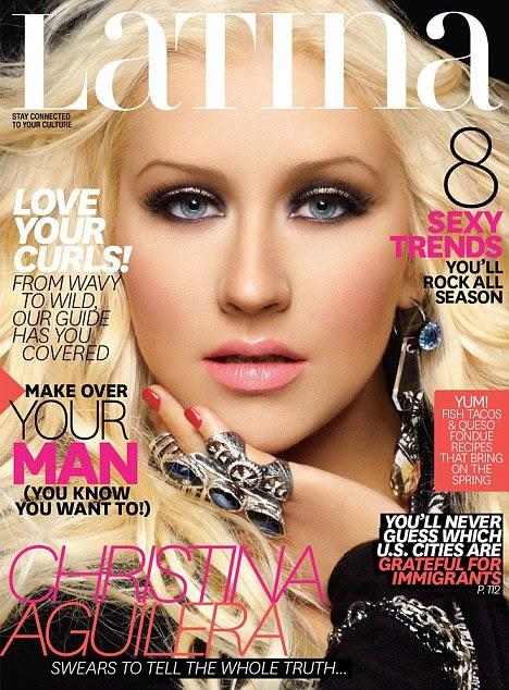 Abertura: Christina Aguilera revelou que gostaria de encontrar-se com seu distante pai em uma entrevista à revista Latina