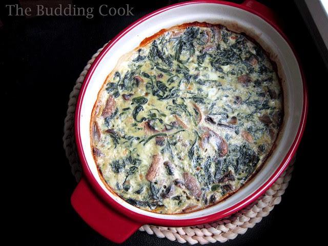 Spinach, mushroom & egg casserole2