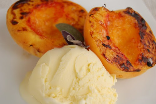 Peaches and Sage Ice Cream
