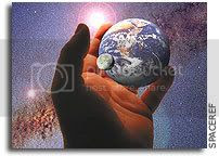 Earth, Moon,& Stars in hand