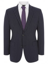 Austin Reed Signature Contemporary Fit Blue Stripe Jacket