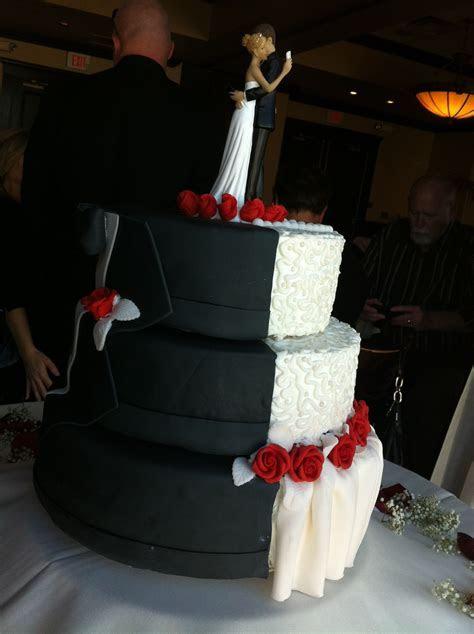 Wedding cake   Half Bride's dress, Half Groom's tux   My