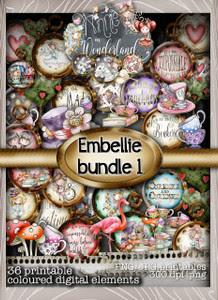 Winnie Wonderland Embellies 1&2 - Printable Digital download