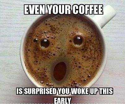 funny coffee, even your coffee is surprised, faces in strange places