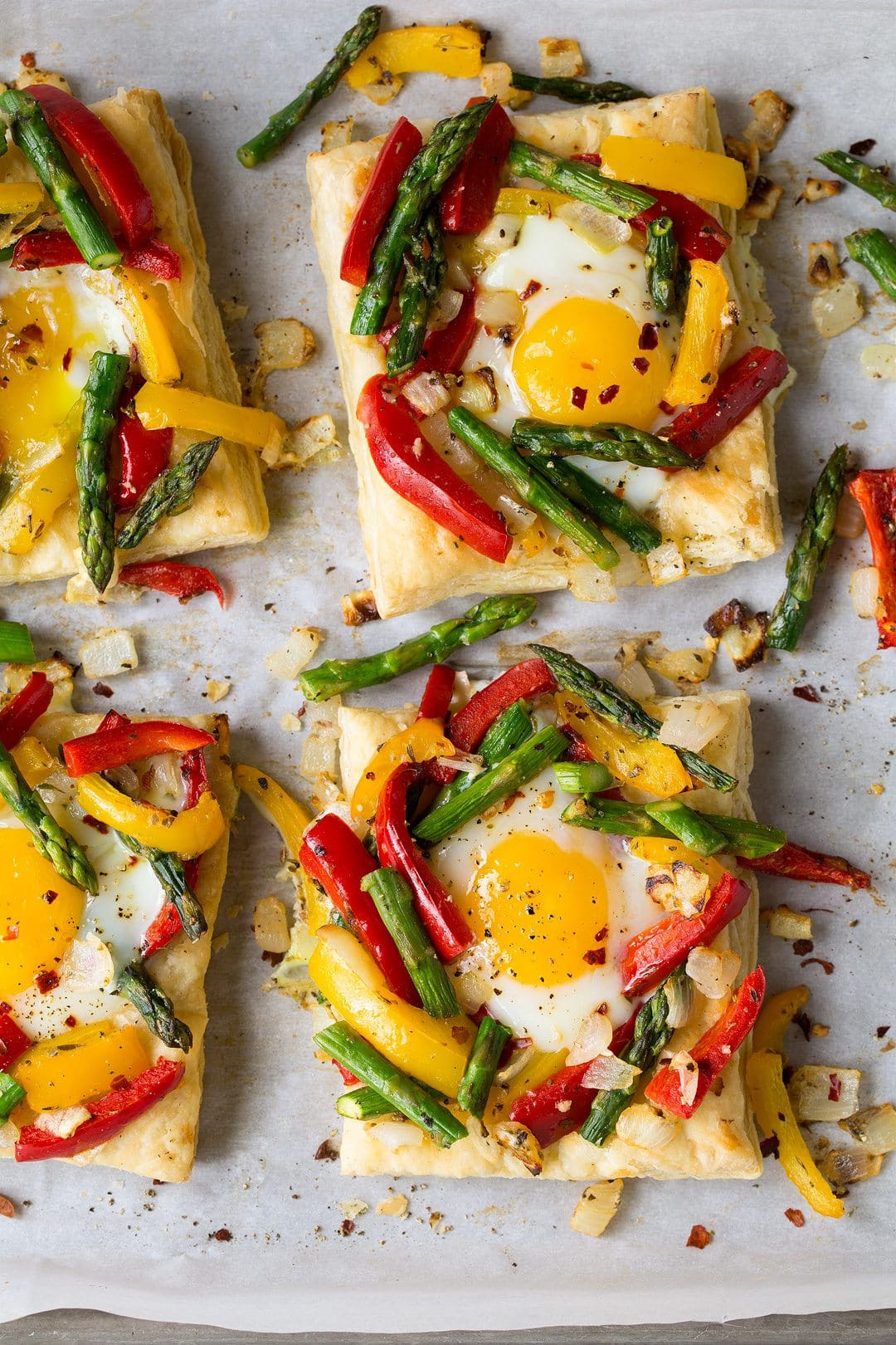 Puff Pastry Baked Eggs