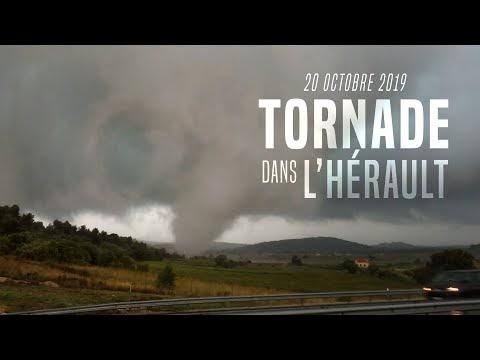 Vidéo - Tornade dans l'ouest de Hérault le 20 Octobre 2019