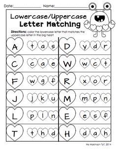 FREEBIE!!! Harvest Time Letter Matching Worksheet. Fun fall ...