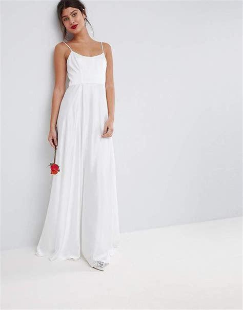 ASOS Bridal Maxi Dress With Square Neck   Wedding Dresses