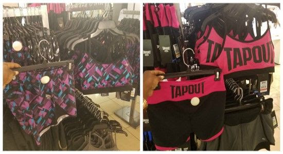 WWE Tapout Women's Workout Apparel at JCPenney