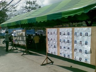 Thai election voting booth