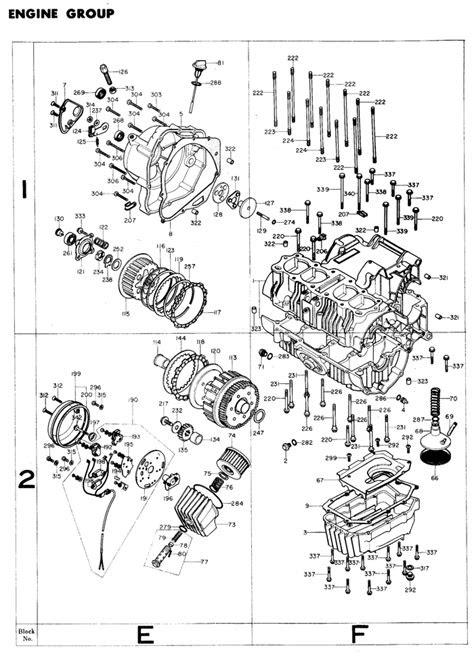 exploded views + parts list | 4into1.com Vintage Honda
