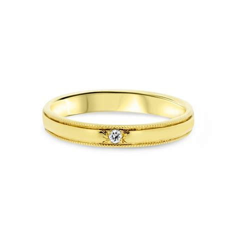 9ct Yellow Gold Infinity Symbol ?Promise? Engagement Ring