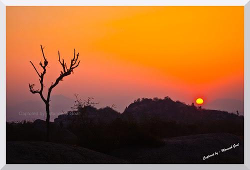 Sun rises over Marwar, Rajasthan