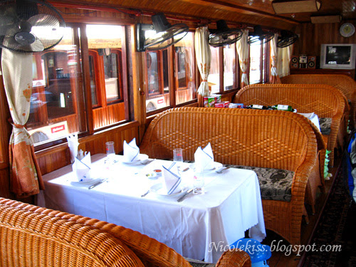 dining area on boat