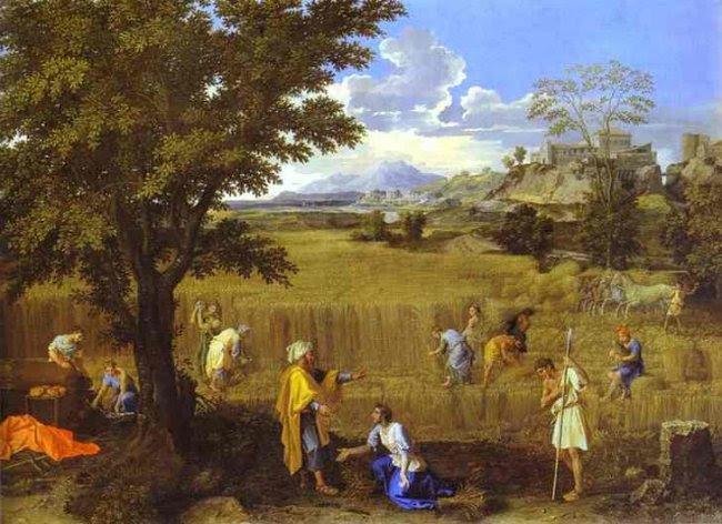 Summer (Boaz and Ruth) by Nicholas Poussin cir. 1660-64