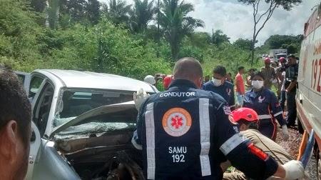 Caxias: Colisão frontal na BR 316 deixa 3 feridos